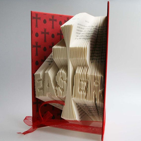 Personalised Gift Donna Present Mothers Day Folded Book Art Sculpture