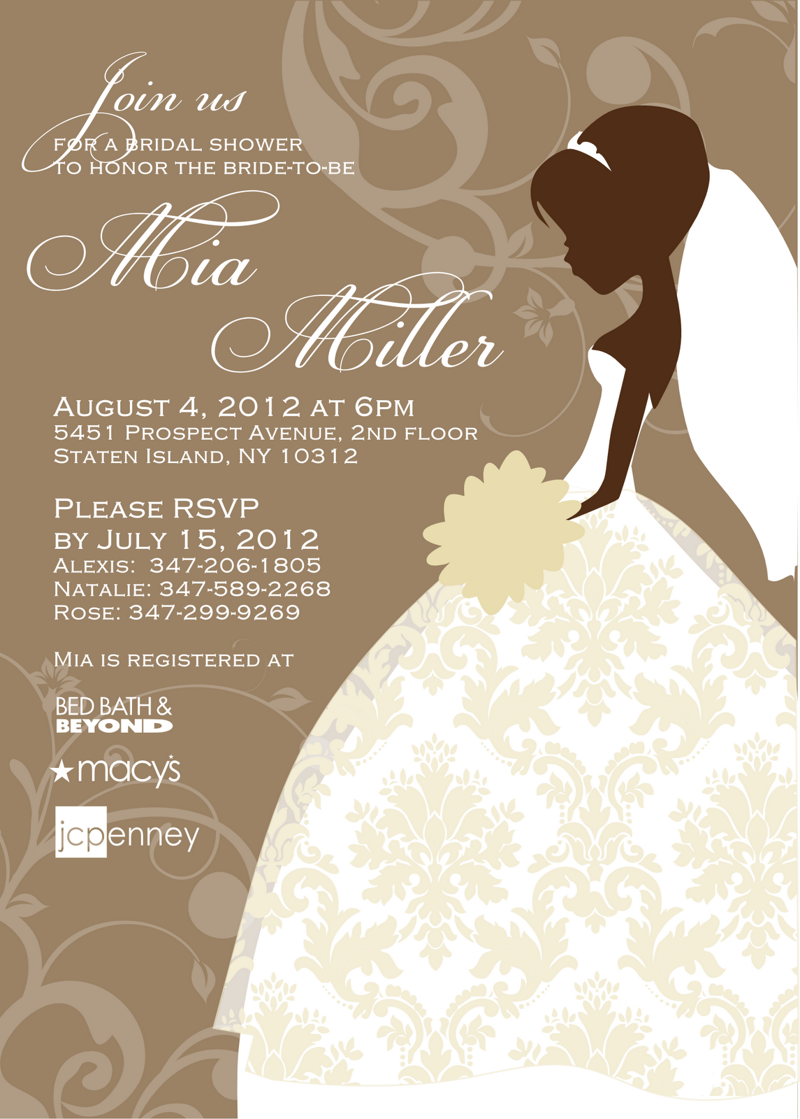 17 Best images about bridal shower invitations – Wedding Shower Invitation Template Free