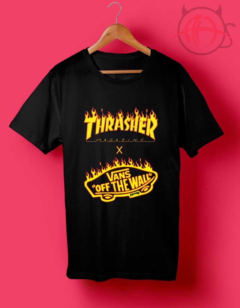 17187adf Trend Fashion Vans x Thrasher 2017 Collaboration T Shirt in 2019 ...