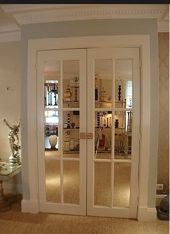 Mirrored French Doors Front Hall Inspiration Office Doors Or