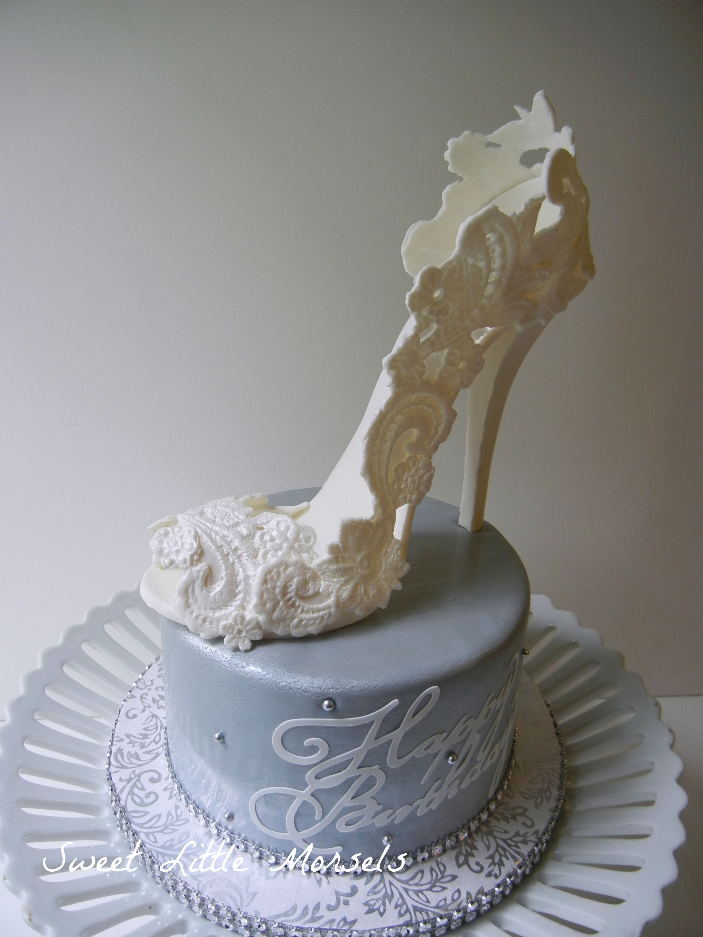 Birthday Cake Designs Shoes : - Birthday cake I did for a friend, who LOVES shoes. I ...