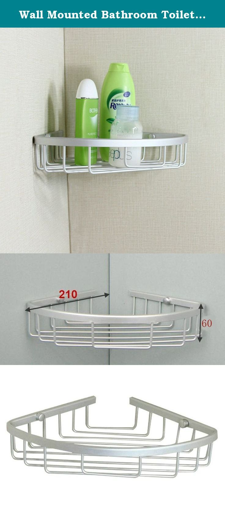 Wall Mounted Bathroom Toilet Corner Shelf Rack Storage Organizer Basket Spacesaver Maximize Your Bathroom S S Bathroom Tray Bathroom Accessories Shower Basket