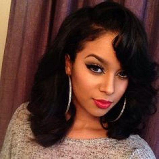 medium length black weave hairstyles | Makeup | Pinterest | Black ...