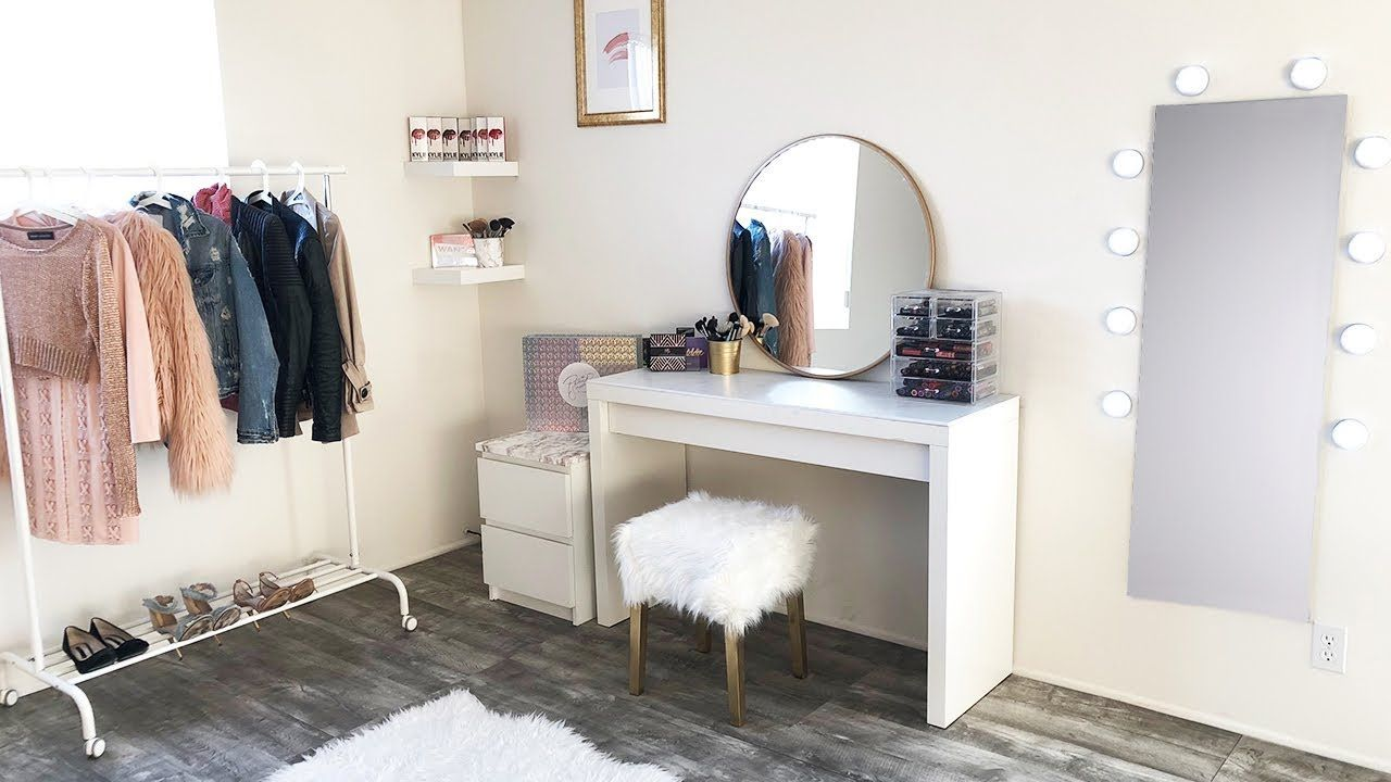 DIY Under 100 Marble Gold Beauty Room Makeover