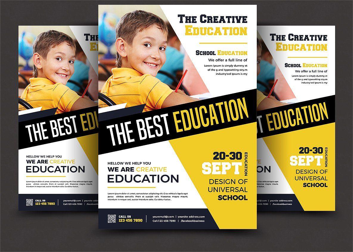 School Education Flyer Templates Educacao