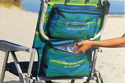 Tommy Bahama Backpack Beach Chairs With One Medium Tote Bag Pack Of 2 Green