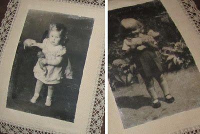 Murusia: Vanhat valokuvat pitsikehyksissä