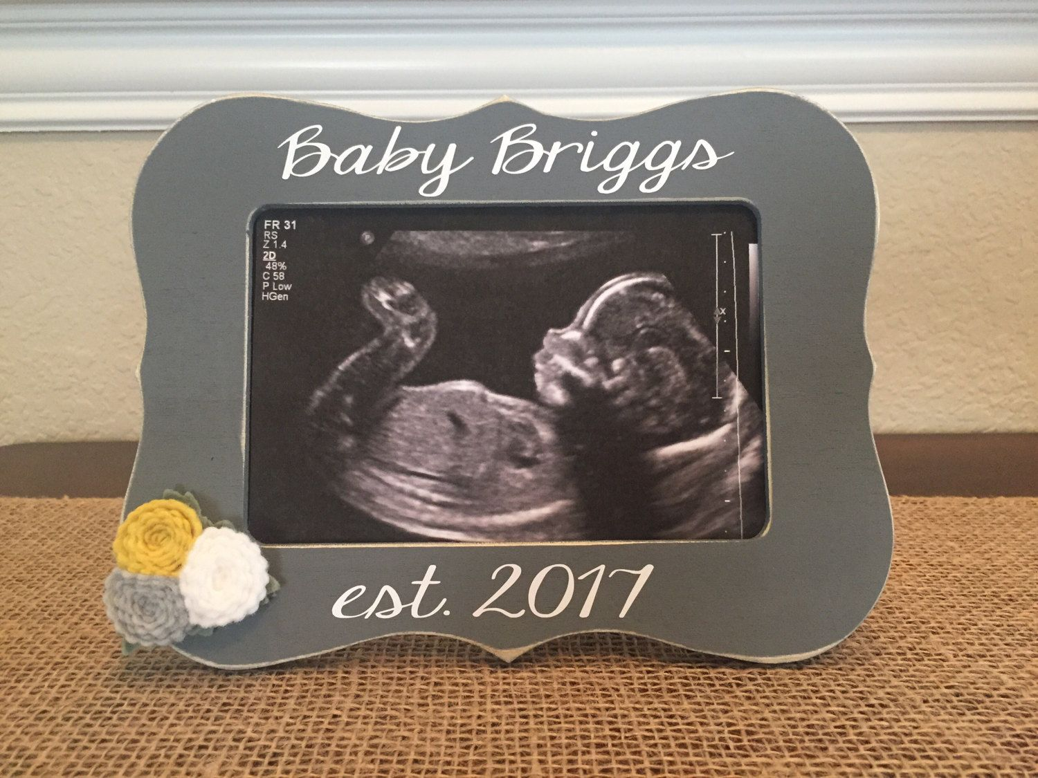 Baby Est. Frame - Love At First Sight Frame - Ultrasound Picture ...