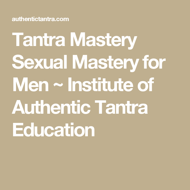 for Sexual men mastery