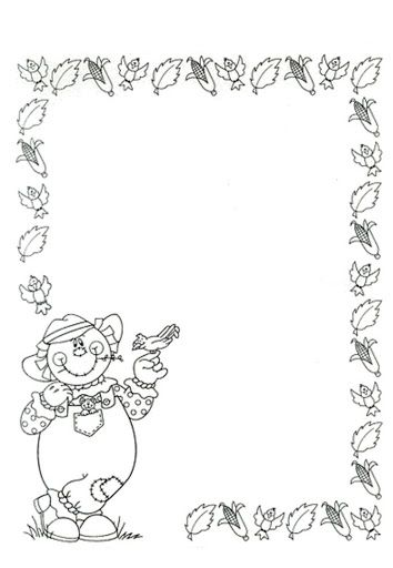 Autumn Page Border Coloring Pages Fall Coloring Pages Leaf