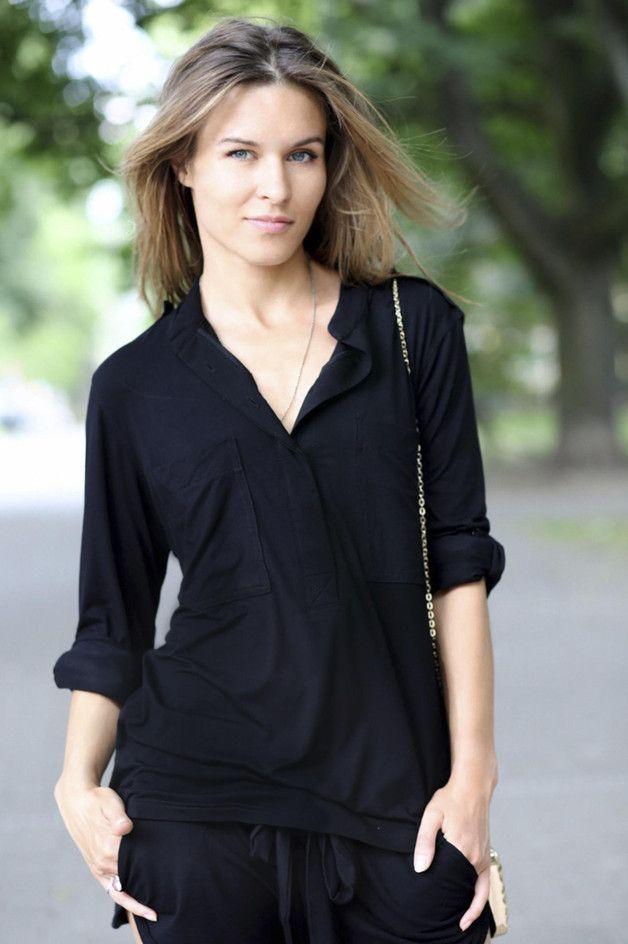 JOLKA black - koszula damska - Riskmadeinwarsaw - Pozostałe