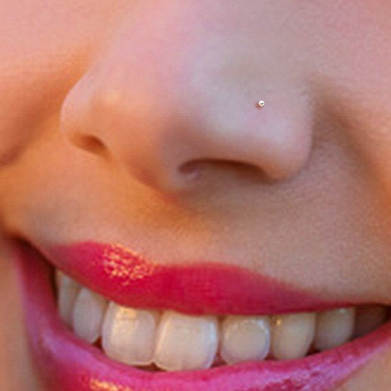Tiny Rose Gold 1mm Ball Nose Stud Nose Ring Rose Gold Nose Stud