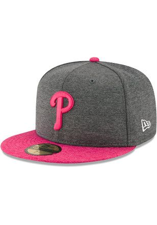 62acb78616e63 Phillies New Era Mens Grey 2017 Mothers Day AC 59FIFTY Fitted Hat ...