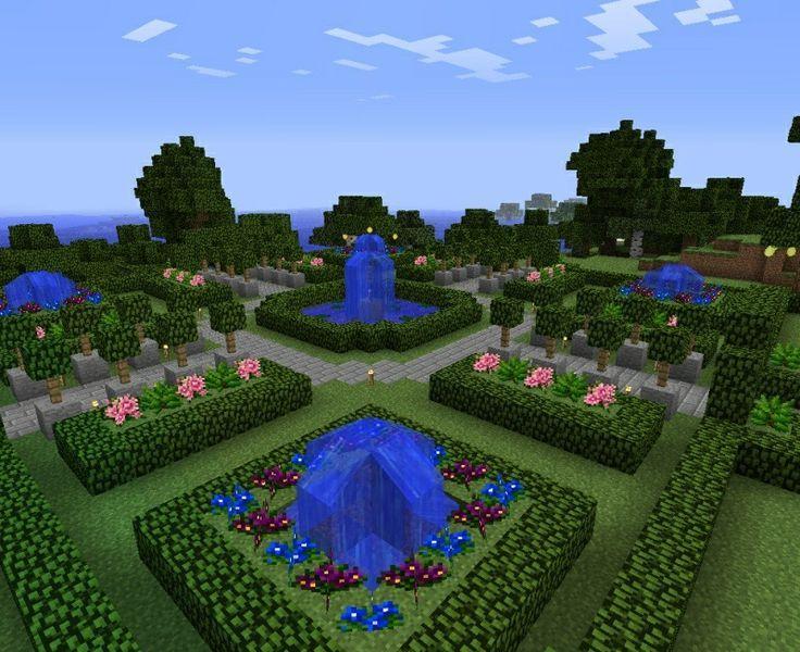 Flower Garden Ideas Minecraft