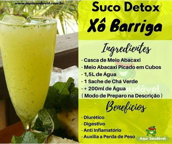 shake detox seca barriga