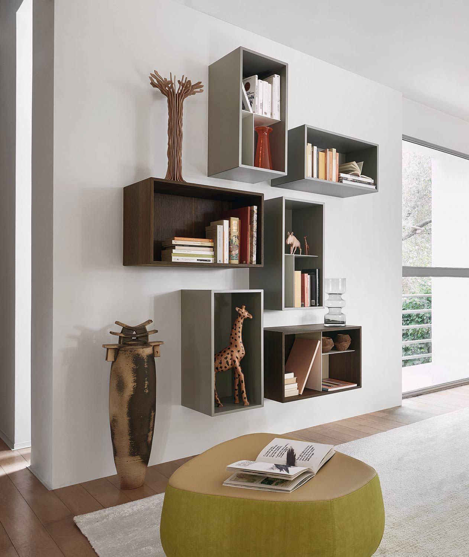 Design Wand Box Bücherregal | Wandregal wohnzimmer, Regale ...