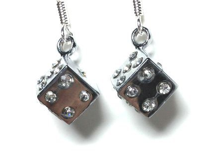 Hey Gamers Crystal Dice Earrings by MidnightHouseElves on Etsy
