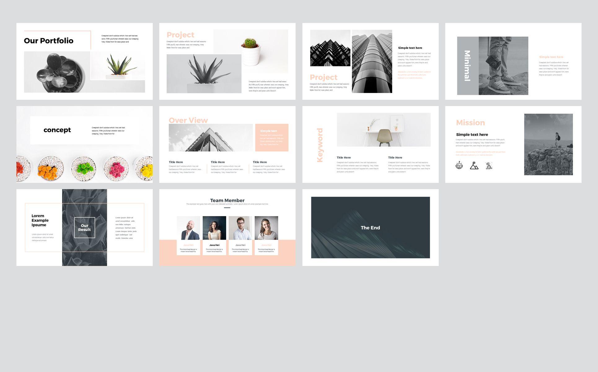 Brand - Business Presentation PowerPoint Template   Beauty