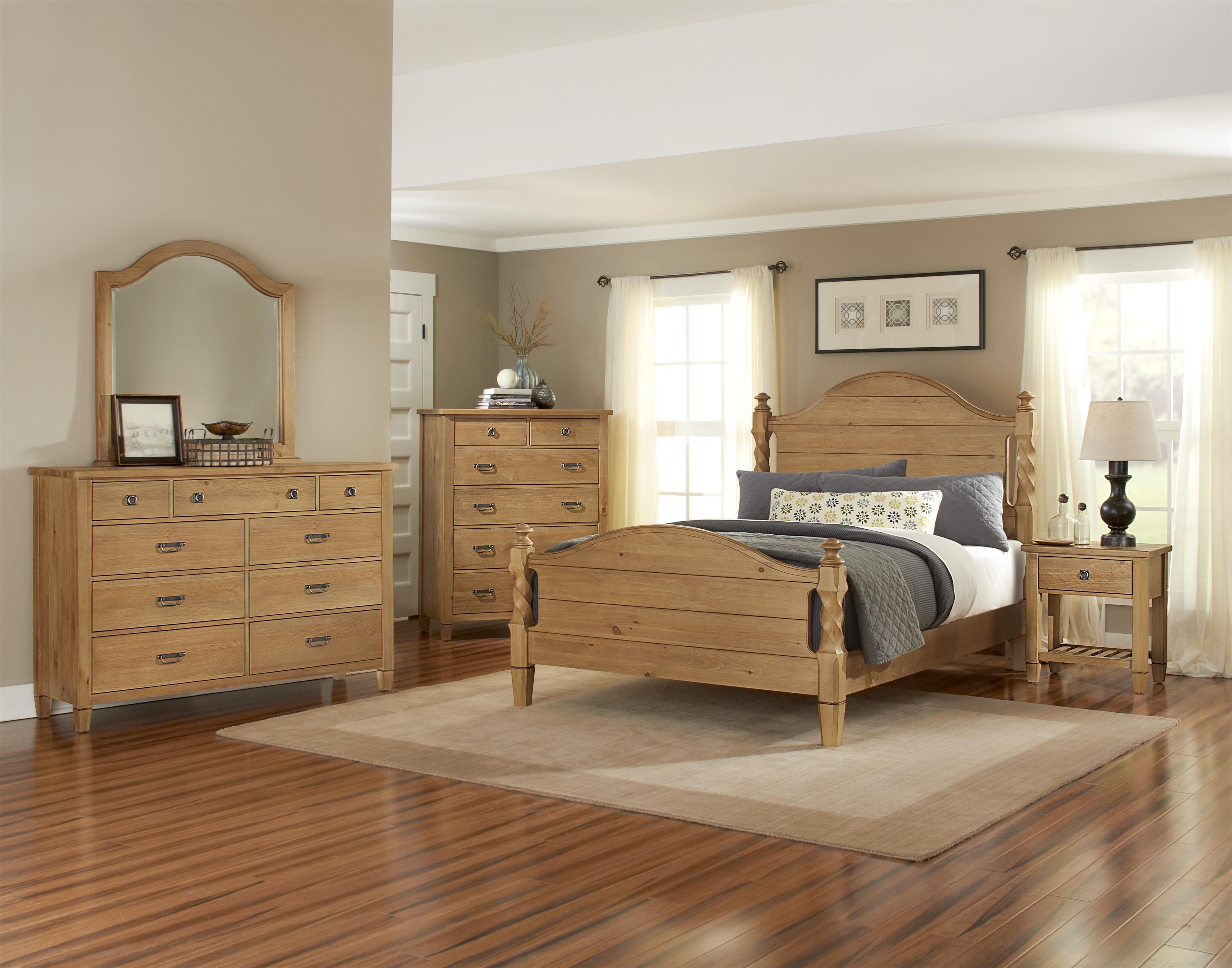 Aspirations Solid Pine King Bedroom Group By Vaughan Bassett