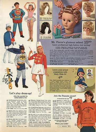 1968 montgomery ward christmas catalog p221 peanuts sweatshirts - Halloween Catalogs