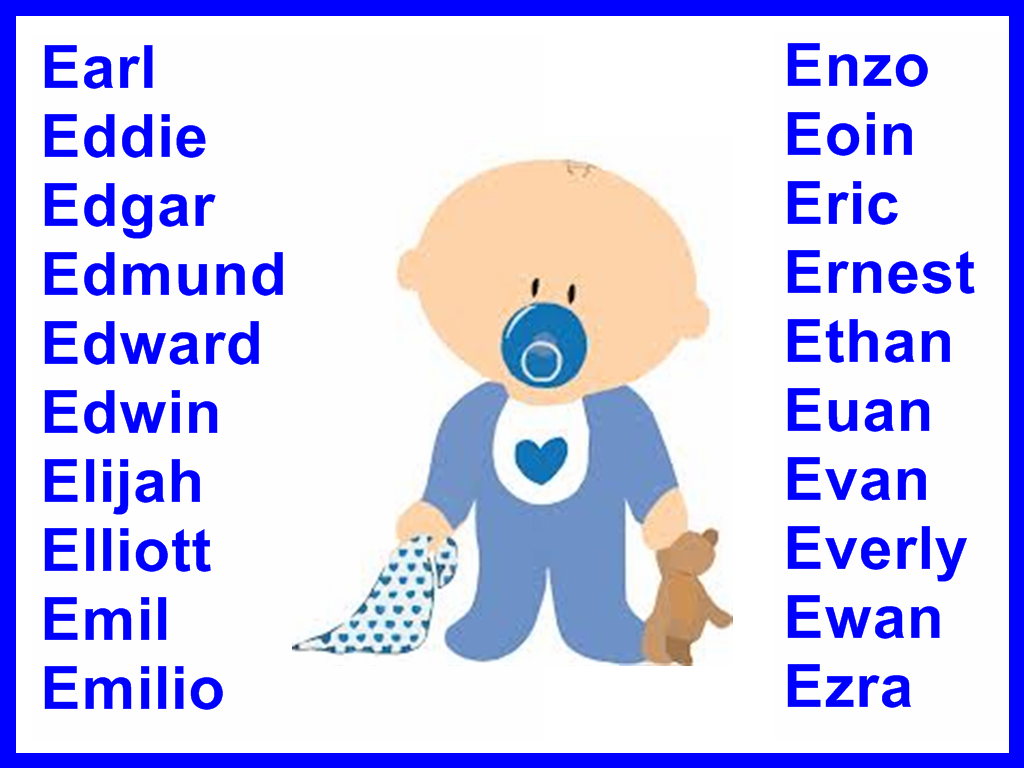 Boys Names Starting With Ewhere They Come From And What -6742
