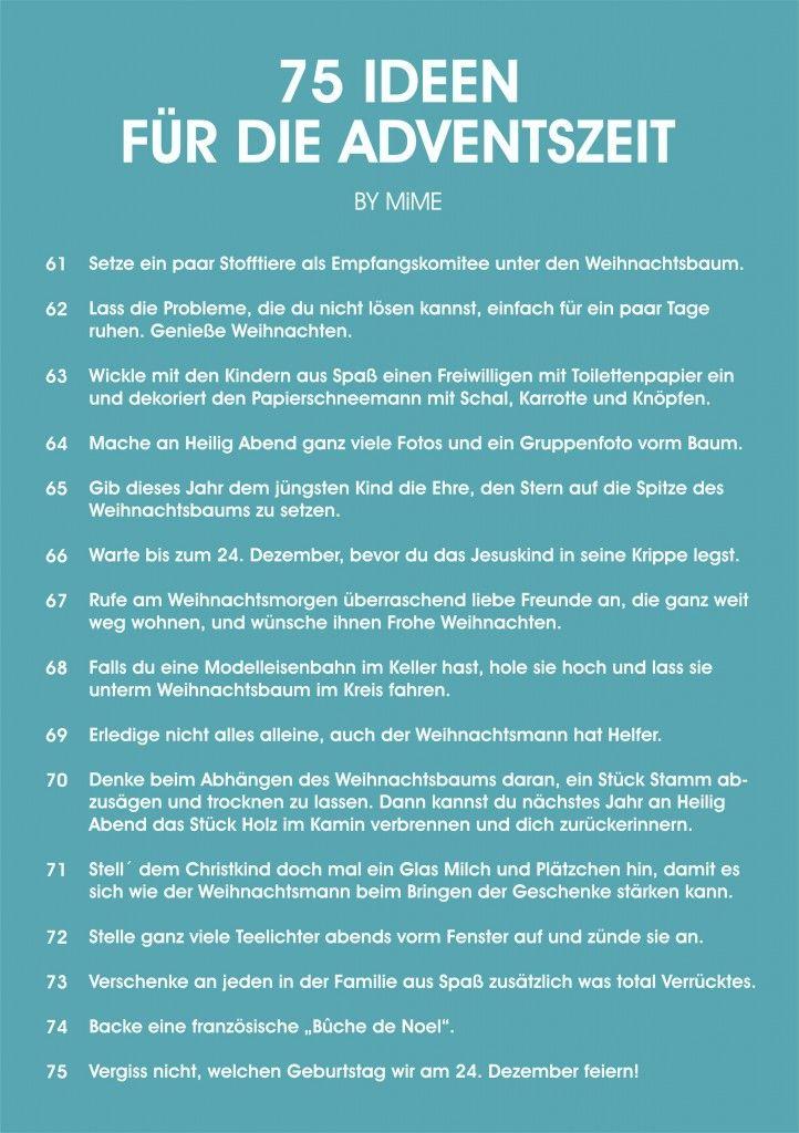 MiME 24 AUFGABEN FÜR DEN ADVENT5 #heiligabendspruch