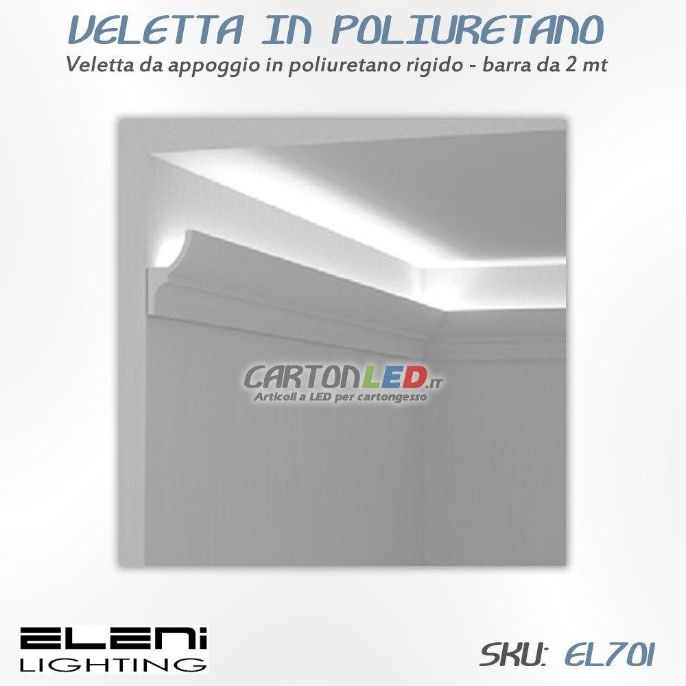 Strisce Led Per Cartongesso veletta in poliuretano a parete – eleni el701   veletta