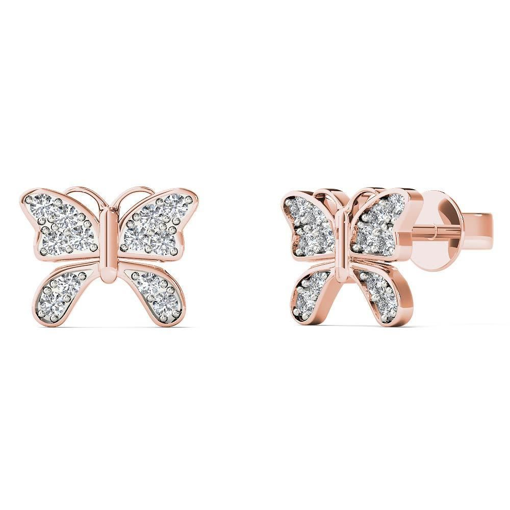 white diamond mount products nuevo earrings j huggie diamonds semi accent with gold rose