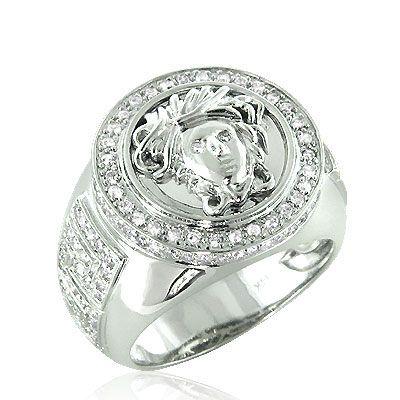 Versace Jewelry For Men 14k Gold Diamond Men S Versace Ring 1 88