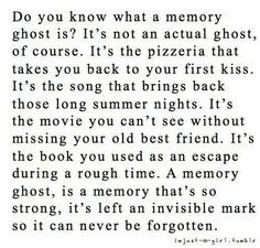 My Memory Ghost Is When Mum And Dad Made Up After A Fight And Hugged And I  Was In The Middle