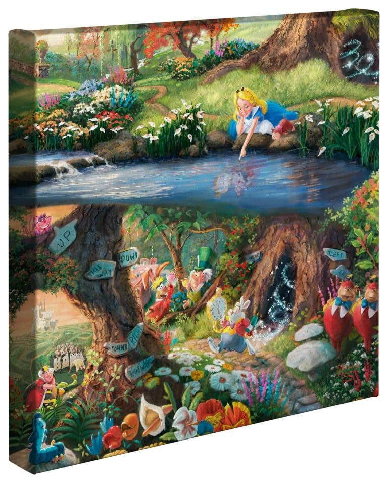 """Alice in Wonderland 14"""" x 14"""" Gallery Wrapped Canvas"""