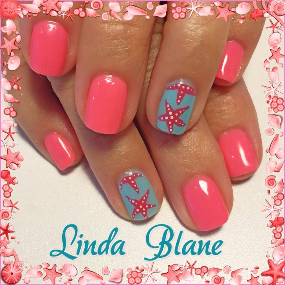 Linda Blane, starfish nail art, summer nail art - Linda Blane, Starfish Nail Art, Summer Nail Art Nails Cute