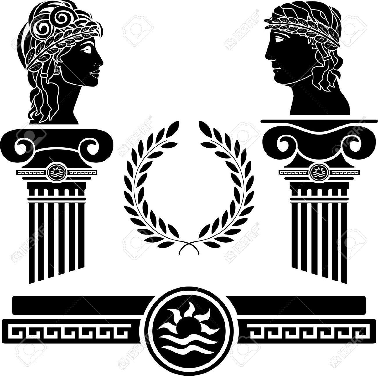 Stock Vector | Greek Design | Greek Mythology, Greek ...