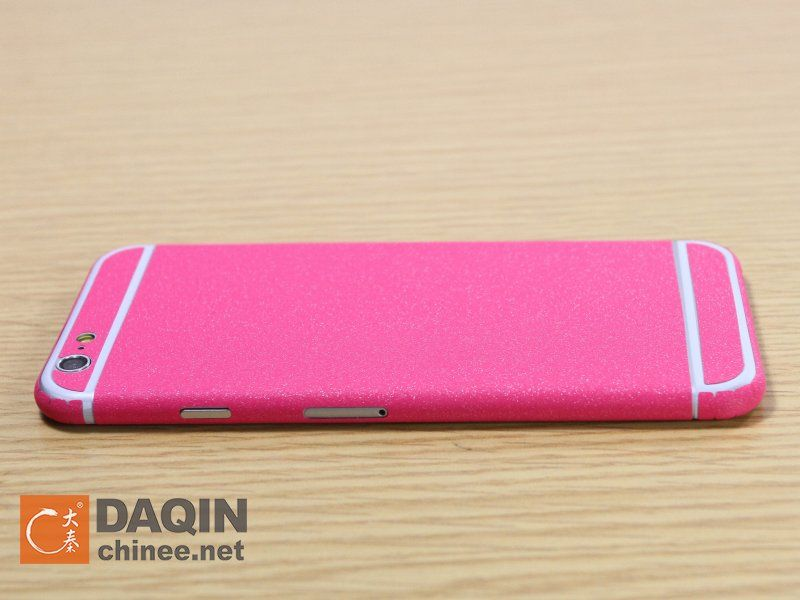 This is the pink color shining sticker for iphone 6 pink version iphone 6