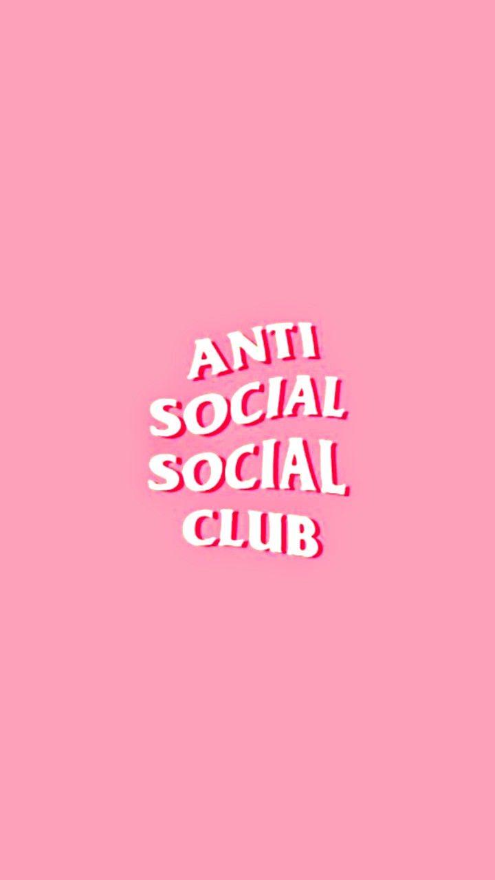 Anti Social Social Club Parede De Fotos Papel De Parede Exclusivo Papel De Parede Com Fundo Preto