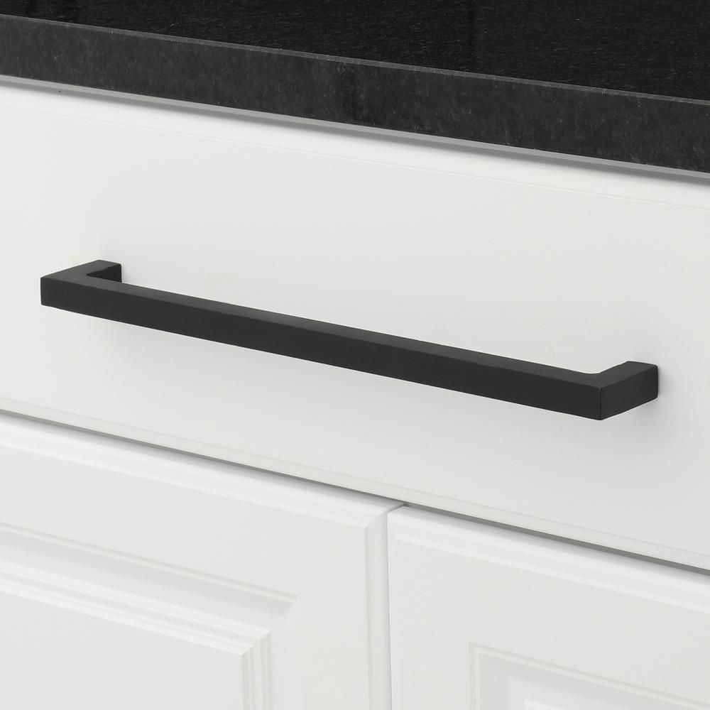 Richelieu Hardware Traditional 12 5 8 In 320 Mm Matte Black Cabinet Pull Bp9466320900 The Home Depot Black Cabinets Rustic Pulls Hardware