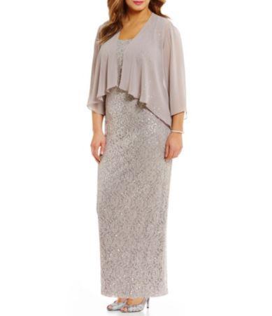 2bfbd4230fc S.L. Fashions Plus 3 4 Sleeve Lace Jacket Dress  Dillards