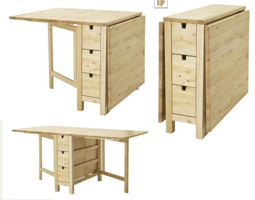 Just Purchased This New Ikea Norden Gateleg Kitchen Table Easy To If