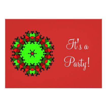 Christmas Party Invitation - Xmas ChristmasEve Christmas Eve