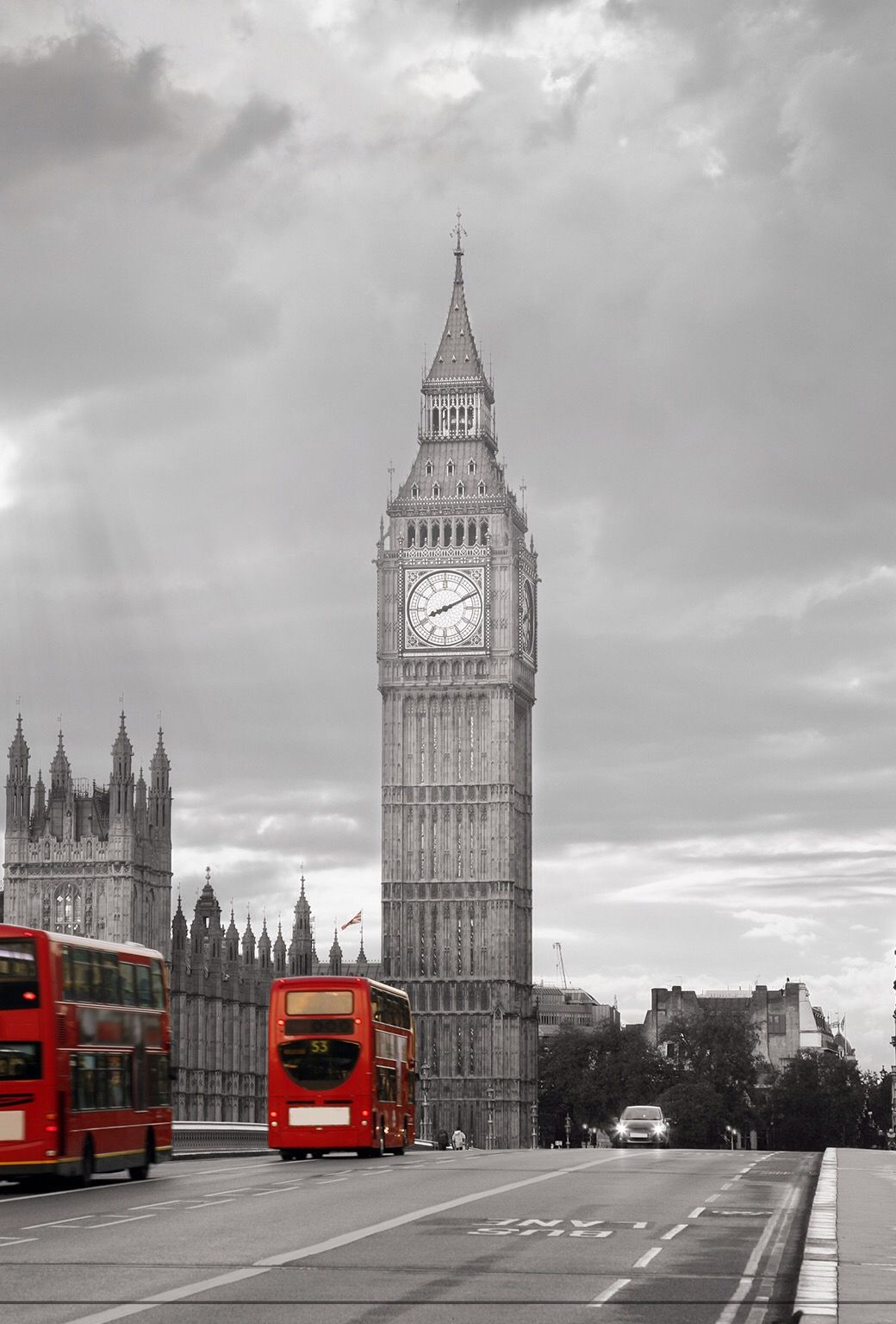 Wallpaper iphone london - City Unicolor London Big Ben Gray Red