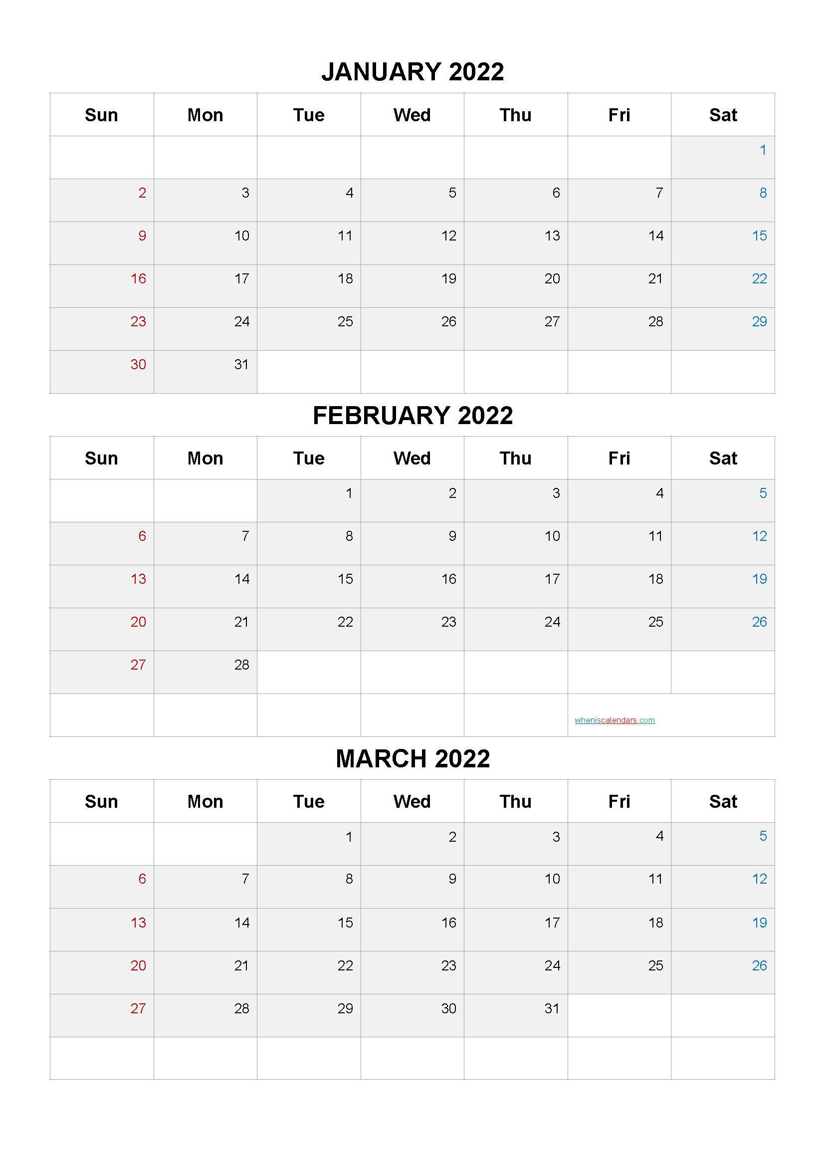 January February March 2022 Calendar.Free January February March 2022 Calendar Q1 Q2 Q3 Q4 Calendar Printables Free Calendar Template Calendar Template