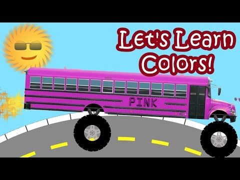 Monster Trucks School Buses For Children Teaching Colors Monster Trucks Truck Videos For Kids Child Teaching