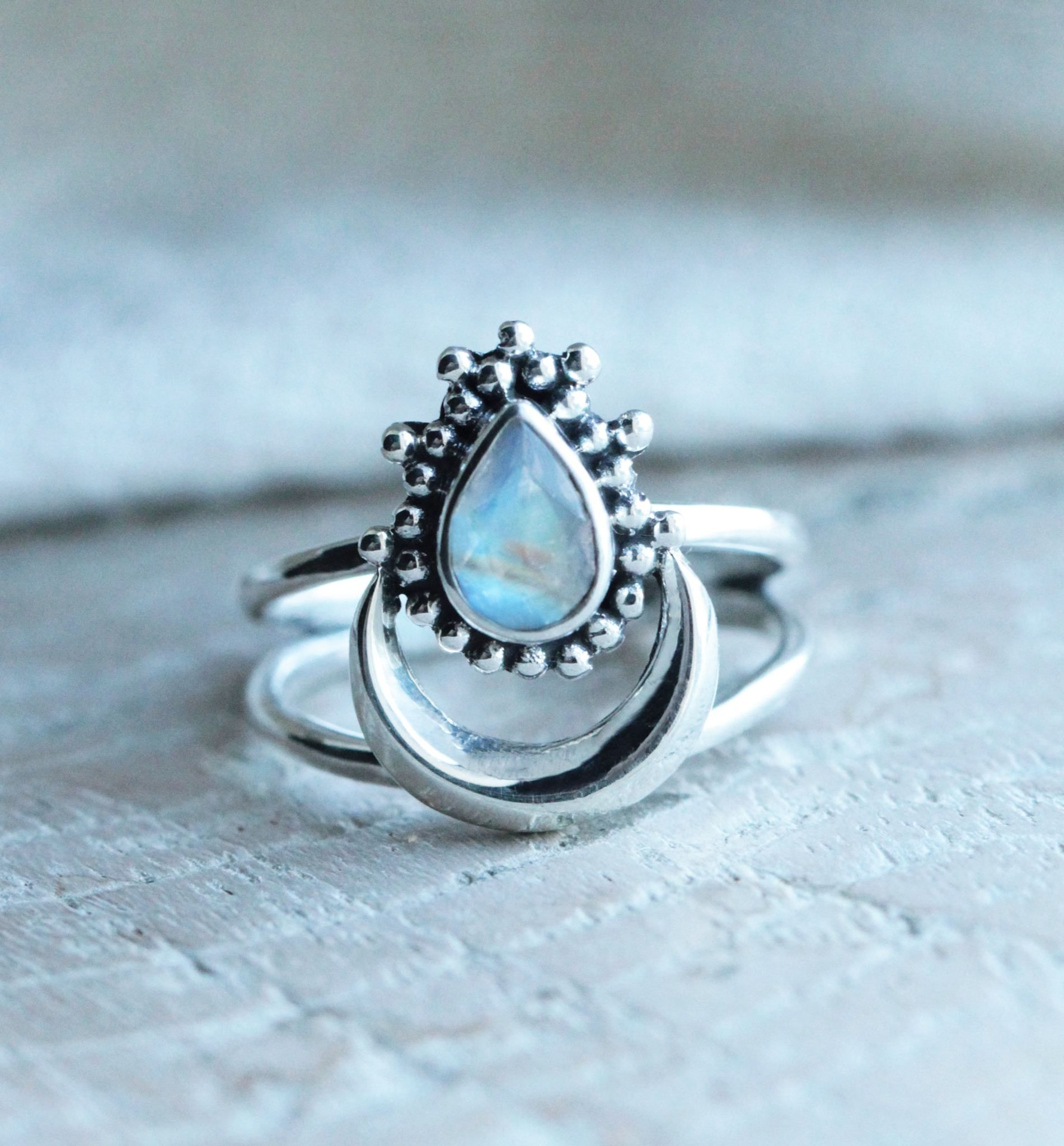 lake more boho rainbow pinteres from rings pin moonstone
