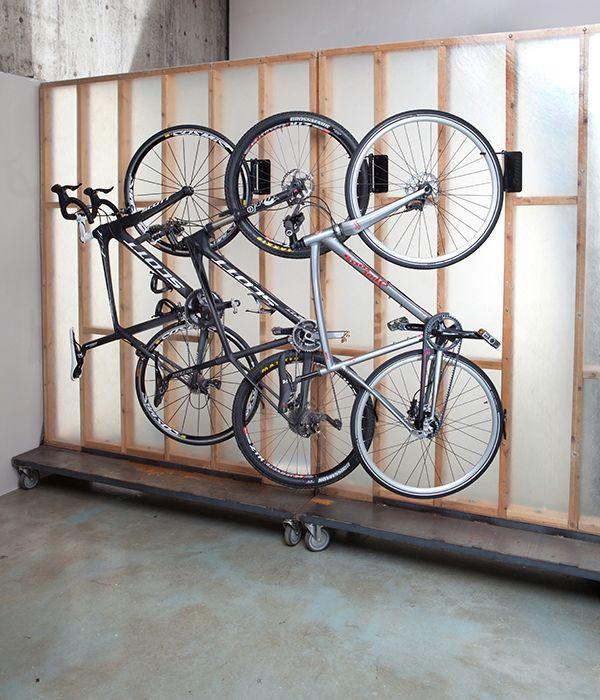 cool bike rack! it hinges the bike to the wall. & cool bike rack! it hinges the bike to the wall. | Recreational Gear ...