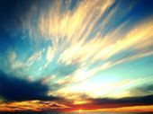 Items similar to Ocean Sunset Photography, Fine Art Photography Abstract Sky Clo...