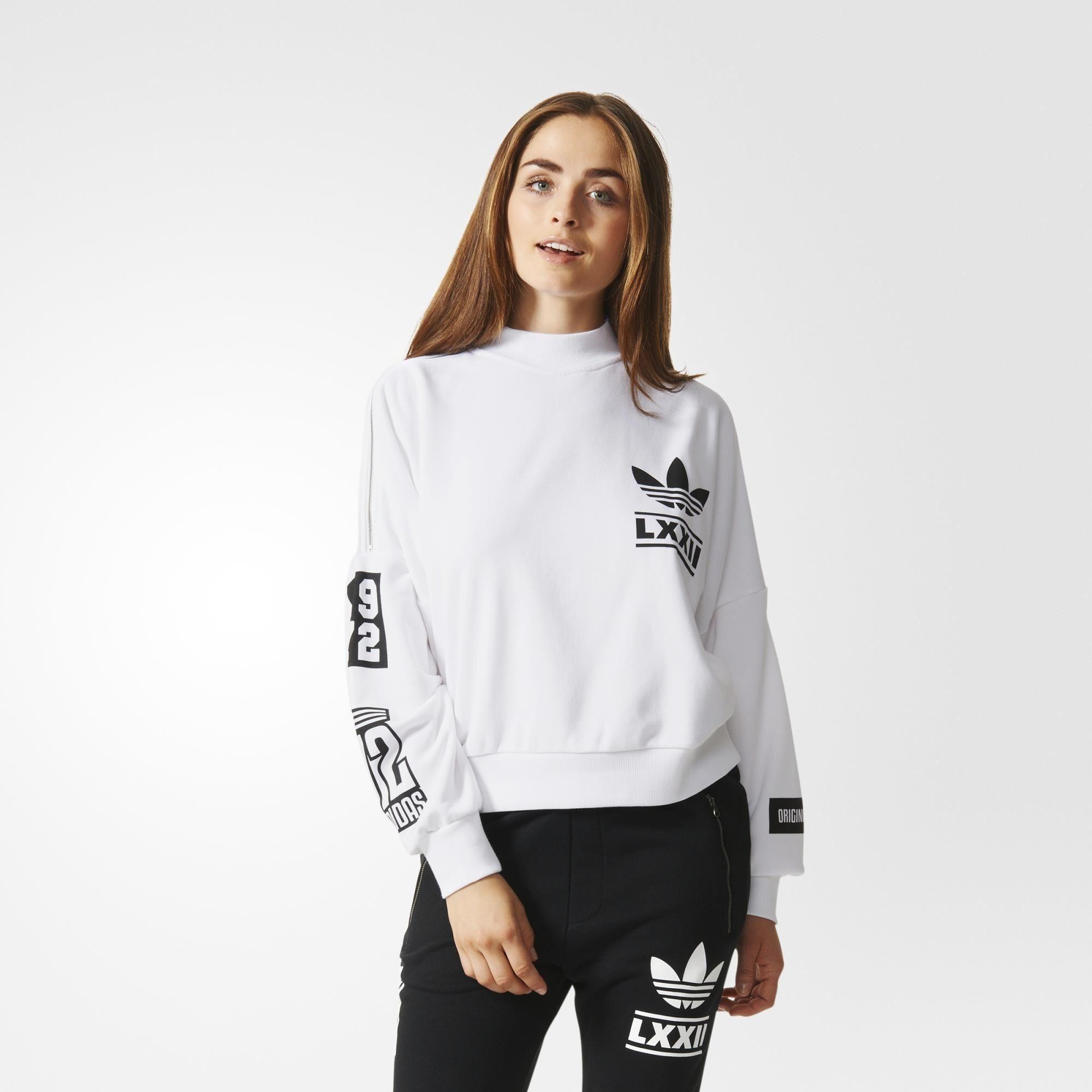 adidas Berlin Trefoil Logo Sweatshirt White | adidas Asia