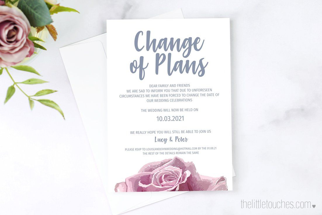 How To Let Your Guests Know Your Wedding Plans Have Changed In 2020 Wedding Planning How To Plan Wedding Invitations