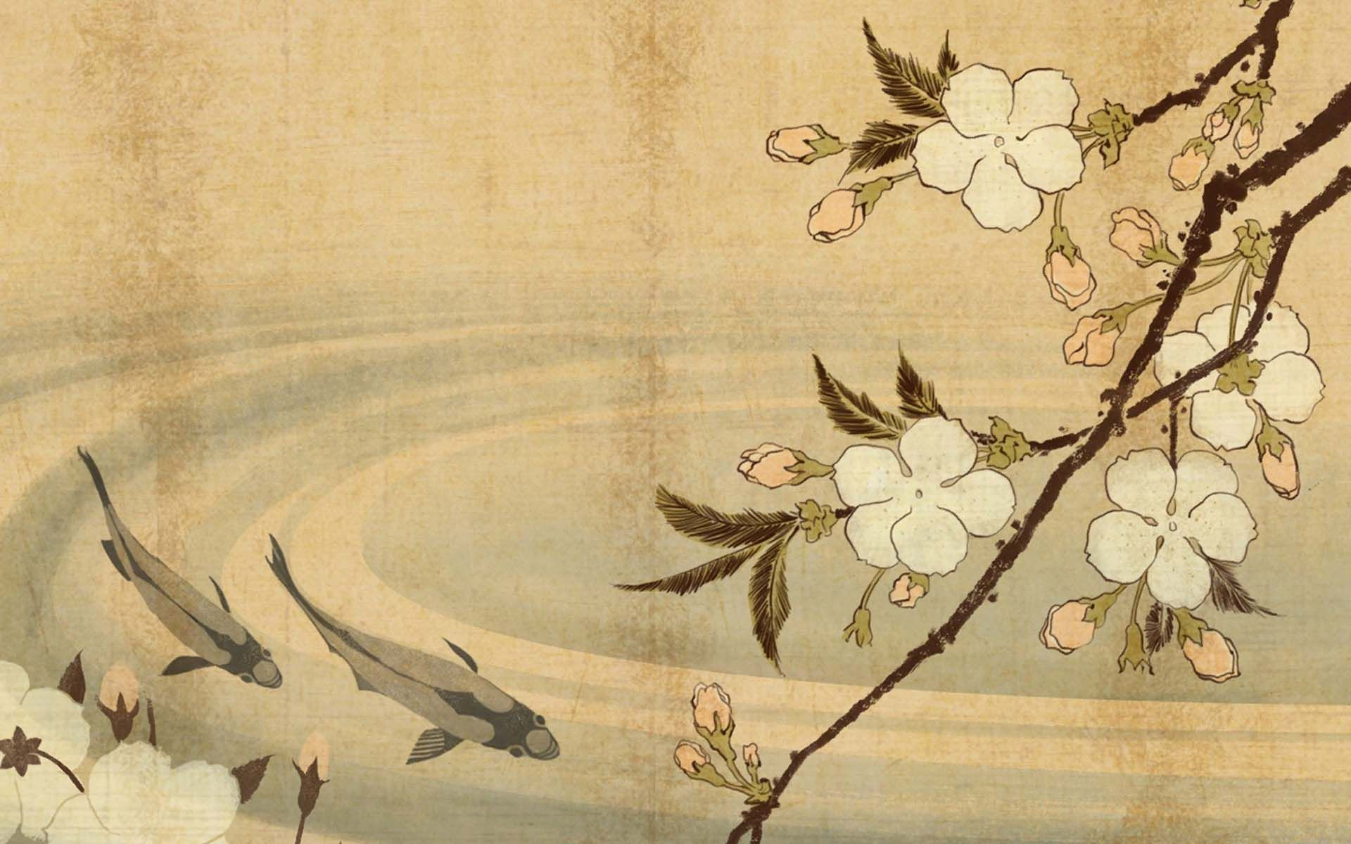 Best Wallpaper Art Painting Hd Wallpapers Genovic Com Nice Wallpaper Traditional Japanese Art Japanese Painting Japanese Prints