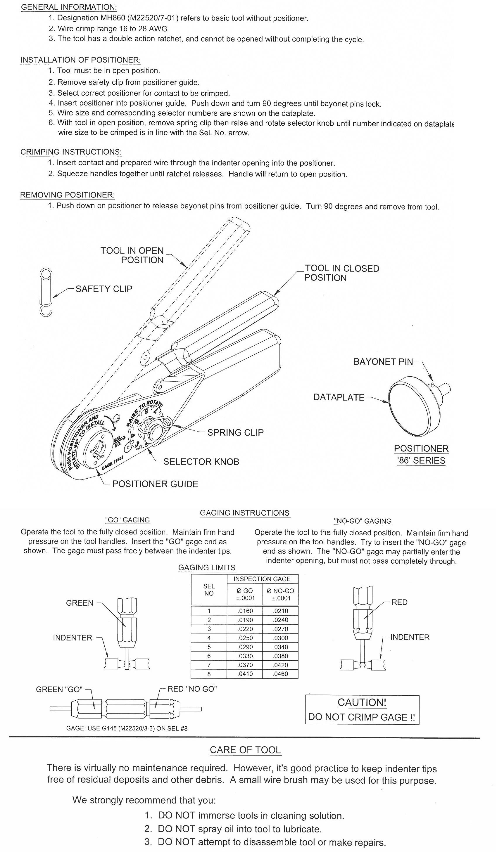 Aircraft Wire Harnes Tool