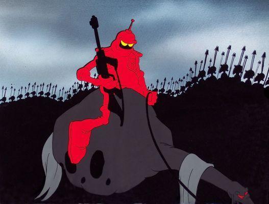 Animated Ralph Bakshi Wizards Movie Black Coffee Mug Retro Animation